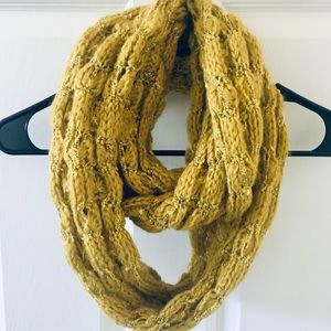 FREE w other purchase   Mustard infinity scarf